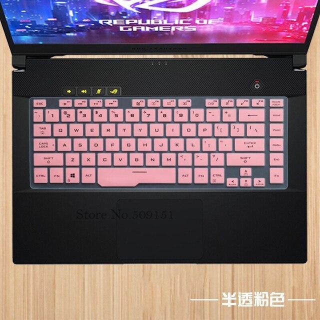 15.6 cal osłona na klawiaturę laptopa pokrowiec ochronny ze skóry folia do asusa ROG Zephyrus M GU502 GU502GU GU502GV GU502G es031t S5D S5DU S7D