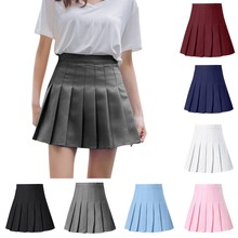 Mini Skirt Waist School Women's Fashion Casual Summer Pleated Vacation Slim