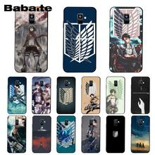 Babaite Anime Jepang Attack On Titan Phone Case untuk Samsung Galaxy A7 A50 A70 A40 A20 A30 A8 A6 A8 plus A9 2018 A51 A71 A80(China)