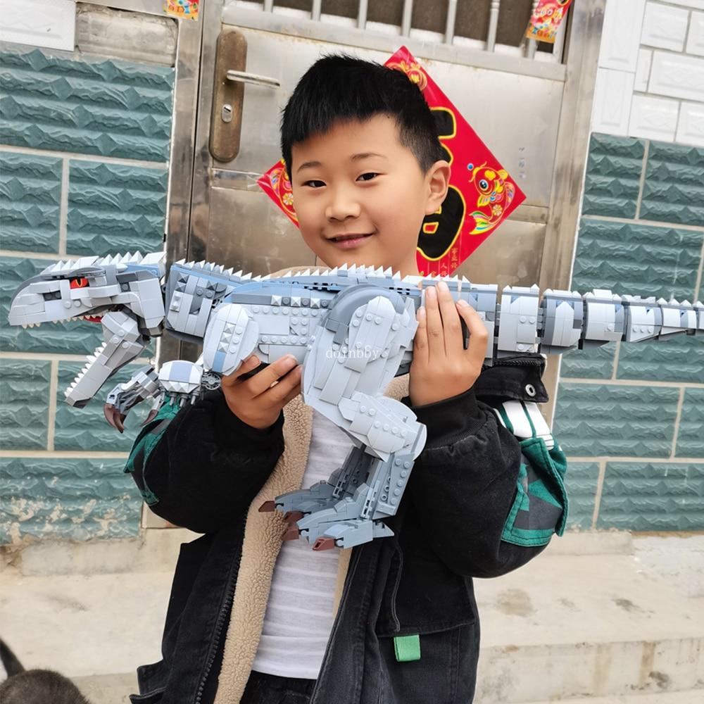 Creator Expert тираннозавр Indominus Рекс Динозавр 2108 шт Мпц модульный, строительные блоки, кирпич парк и мир Юрского периода Модель игрушки