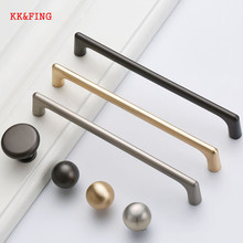 KK&FING Pearl Gray Gold Zinc Alloy Cabinet Knobs And Handles Solid Drawer Kitchen Cupboard Pulls Furniture Handle Hardware