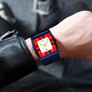 Image 5 - NIBOSI Herren Uhren Top Brand Luxus Blau Platz Quarzuhr Männer Dünne Wasserdichte Goldene Männliche Armbanduhr Männer Relogio Masculino