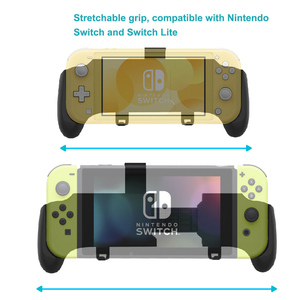 Image 4 - Nintend Switch And Switch Lite Mini 2019 Grip Case Ergonomic Non Slip Handle Stretchable  Handgrip with Detachable Hook Stand
