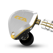 CCA C12 5BA+1DD Gold Metal HIFI Hybrid In Ear Headphone 12 Drivers Unit 5D Stereo  AS10 C10 C16 TRN V90 V80 X6