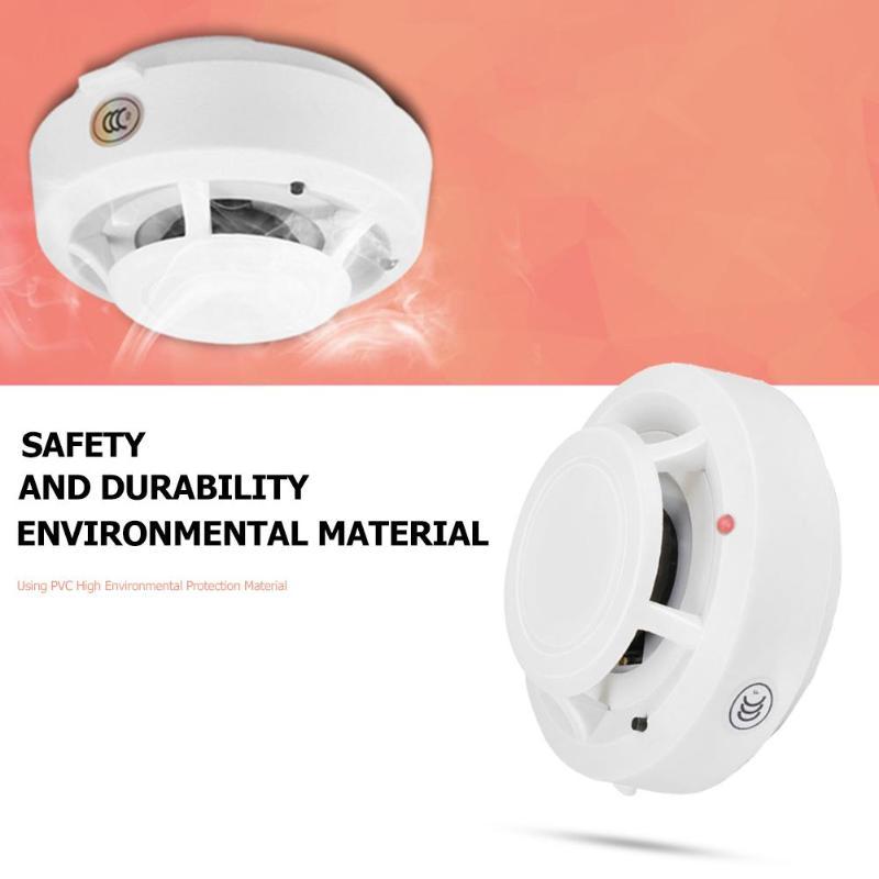 Smoke Detector Alarm Portable High Sensitive Stable Independent Alarm Smoke Detector Fire Alarm Alone Sensor For Home Security