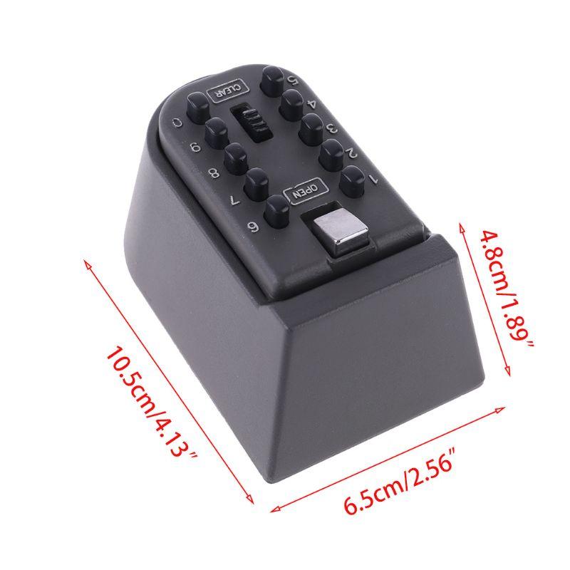 Outdoor Wall Mount Spare Key Safe Storage Box Waterproof Push Button Lock Holder D08B