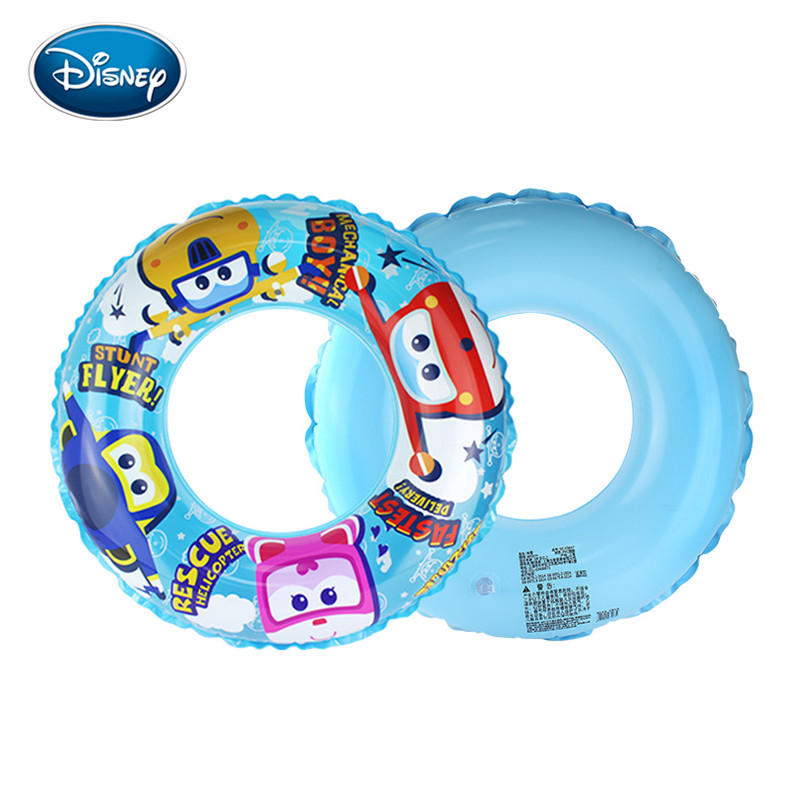 Disney Children's Swimming Ring Cartoon Super Pan Swim Ring Green PVC Inflatable Play Water Toys Outdoor Swimming Ring