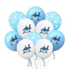 12inch Cartoon Shark Latex Balloons Confetti Balloon Baby Shower Birthday Party Decoration Happy