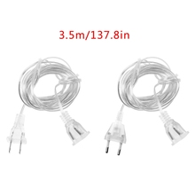 EU US Plug Male To Female Power Supply Extension Cable For PC Wall Charger LED