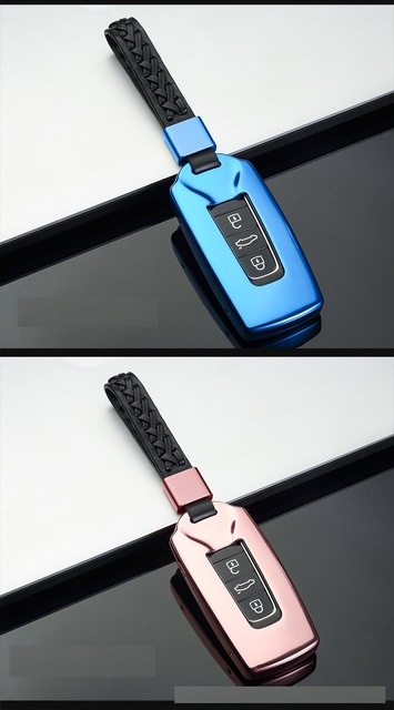 Auto Alunimnum Legering Sleutelhanger Cover Shell Holder Case Voor Volkswagen Touareg 2019 Fob Sleutel Auto-Styling
