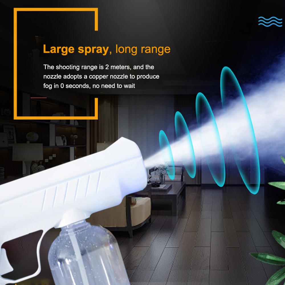 Rechargeable Electrostatic Battery Fogger Machine Portable Sprayer Gun wireless chargeing Nano Blue Ray Atomizer Office School-2