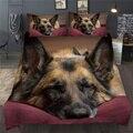Набор пододеяльников с 3D принтом для питомцев, собак, животных, постельных принадлежностей, Одноместный, двойной, полный, Королевский, посте...