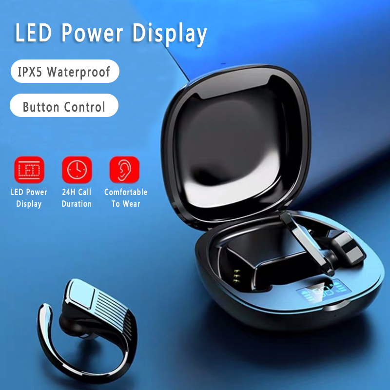 Bluetooth 5 0 Headset Tws Wireless Earphones Earbuds Stereo Intelligent Noise Reduction Headphones Ear Hook Bluetooth Earphones Headphones Aliexpress
