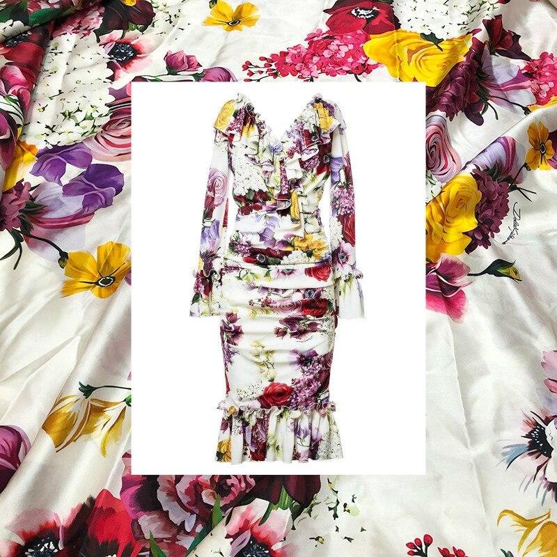 Italien D marke lila blumen gedruckt stretch satin weichen frauen sommer mode polyester DIY kleidung stoff tuch für kleid