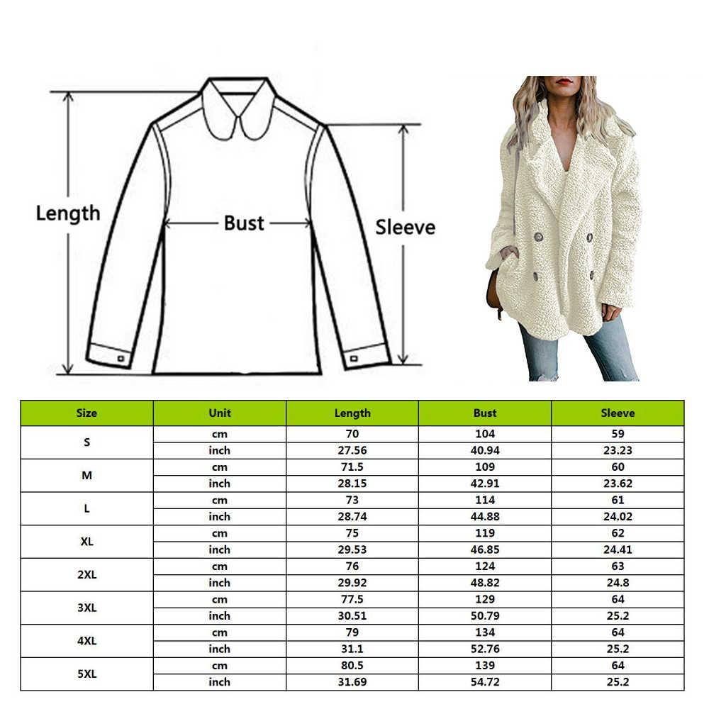 여성 패션 숙녀 세련된 두꺼운 겨울 캐주얼 양털 모피 털이 코트 자켓 점퍼 아웃웨어 플러스 사이즈