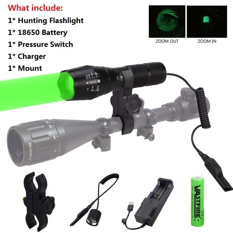 a100 caca tatico lanterna zoomable 350 metros 38mm lente pistola luz rifle scope montar 2 18650