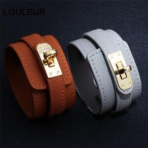 Женский браслет с регулируемой длиной, кожаный браслет, женский модный красный цвет, большой широкий пояс, браслет и ювелирные изделия