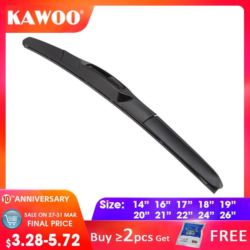Car Wiper Blade Universal U Hook Type 14''16''17''18''19''20''21''22''24''26'' Windscreen Windshield Rubber Hybrid Auto Wipers Accessories