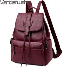 2020 Leather Backpacks Women Casual Back pack Sac a Dos Femme Travel Backpack school bags for teenage girls mochila feminina