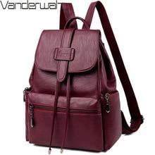2020 حقيبة ظهر مصنوعة من الجلد المرأة عادية الظهر حزمة كيس دوس فام حقيبة السفر الحقائب المدرسية للمراهقات mochila الأنثوية