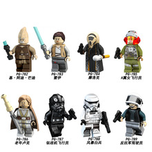 PG8116 Model Space Wars Rebel Tie A-Wing Pilot Ki-Adi-Mundi Rey Luke Skywalker Figures Building Blocks Children Gift Toys DIY