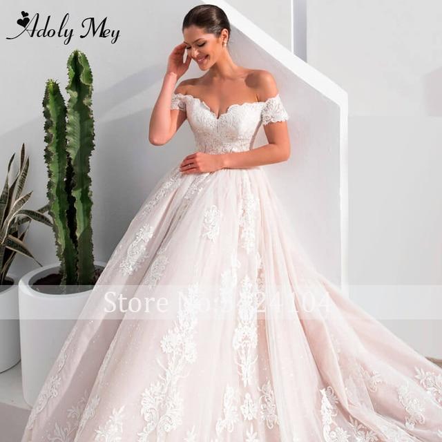 Adoly Mey Gorgeous Appliques A-Line Wedding Dress 2021 Charming Sweetheart Neck Vintage Bridal Gown Customized Vestido De Noiva 4