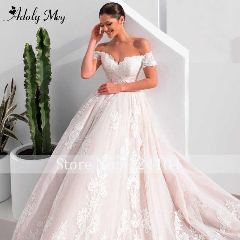 Adoly Mey-robe De mariée ligne a, robe De mariée Vintage, charmante, décolleté, avec des Appliques, personnalisée, modèle 2020