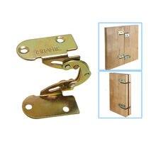2 pces dobradiça da aleta de 180 graus ferro dobradura escondida dobradiça para mesa jantar cama suporte mecanismo combinação acessórios móveis