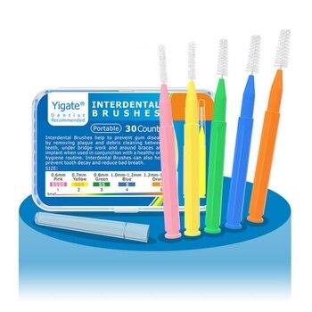 30 Pcs I Shaped Interdental Brush Dental Floss Interdental Cleaners Orthodontic Dental Teeth Brush Toothpick Oral Care Tool 1