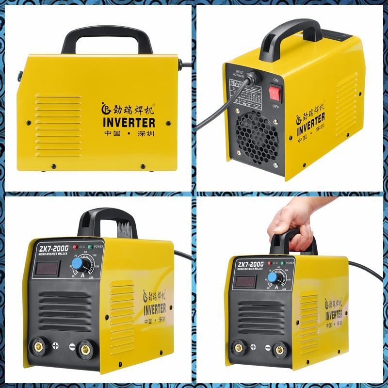 220V 20-200A 25 kva Ручной мини ММА IGBT инвертор мини электрический IGBT MMA ARC ZX7 7 сварочный аппарат-инструмент