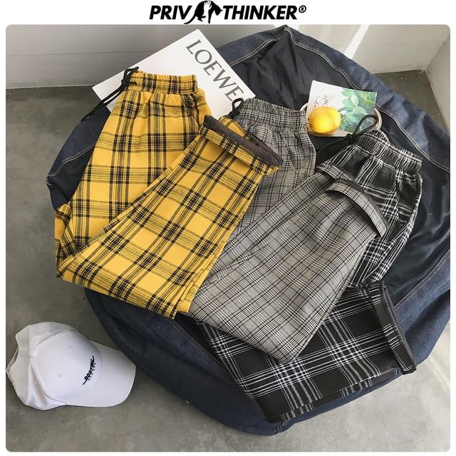 Privathinker Harajuku Plaid Pants For Women Trousers 2020 Streetwear Woman Harem Pants Autumn Ladies Causal Pants Plus Size 43