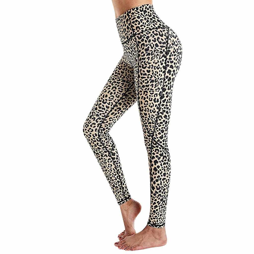 Womens Ladies Sports Fitness Leggings Pockets Running Gym High Waist Yoga Pants