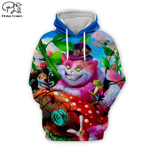 Halloween Men women 3d Hoodies Alice Cheshire Cat print Sweatshirt tshirt zipper Christmas cartoon pullover unisex Tracksuit цена
