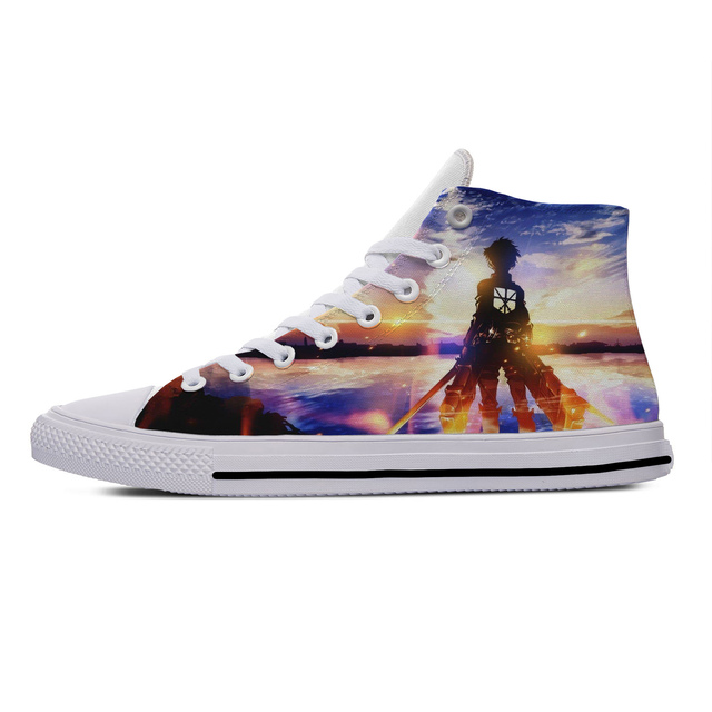 ATTACK ON TITAN THEMED HIGH TOP SHOES (12 VARIAN)