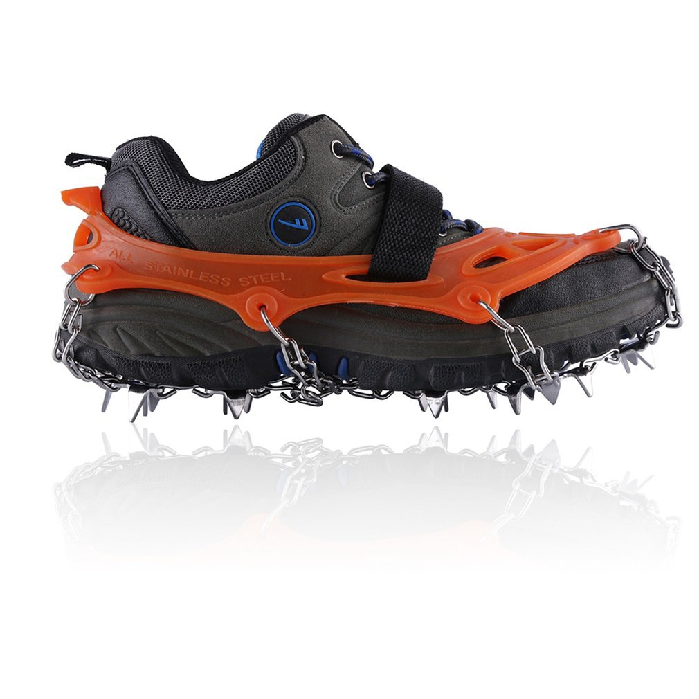 19 Teeth Claws Micro Spikes Cleat Footwear Ice Snow Grips Traction System Crampons Non-Slip Shoes Cover For Hiking
