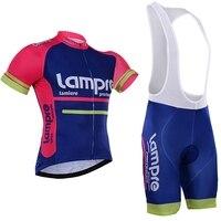 2016 pro team lampre Ciclismo jersey conjunto transpirable verano manga corta bicicleta Ropa MTB Ropa Ciclismo maillot GEL Conjuntos de ciclismo     -