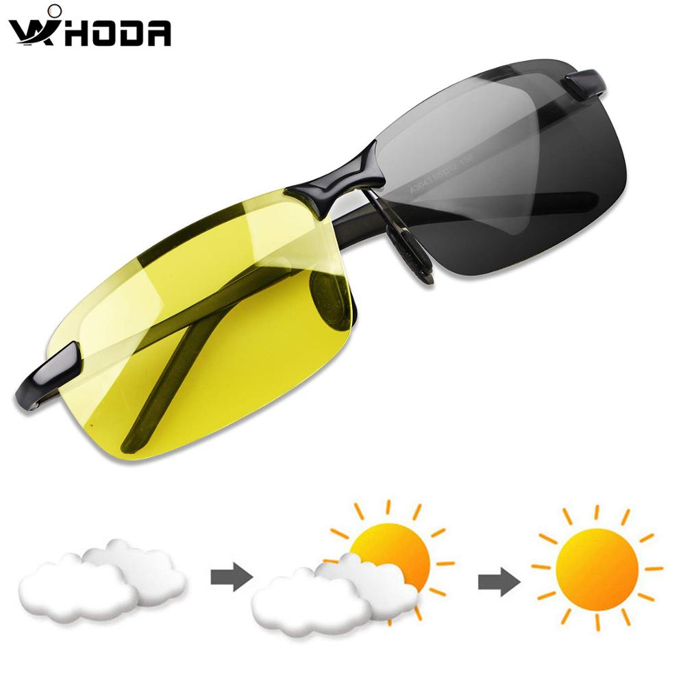 Polarized Photochromic Outdoor Driver Sunglasses For Men & Women,Anti Glare UV400 Protection For Day & Night Driving Sun Glasses