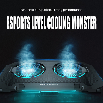 Gaming Laptop Cooler two Fan Two USB Port Led RGB Lighting Notebook Stand Laptop 12-17 inch base para usb Laptop Cooling Pad laptop cooler cooling pad base big fan usb stand for 14 inch led light notebook drop ship