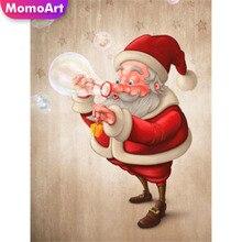 MomoArt 5D DIY Cartoon Diamond Painting Santa Claus Cross Stitch Embroidery Full Square Picture Rhinestones Home Decoration