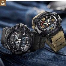 Новые цифровые часы Youpin с двойным дисплеем, оригинальный импортный механизм, многофункциональный циферблат, двойной дисплей времени, водонепроницаемые