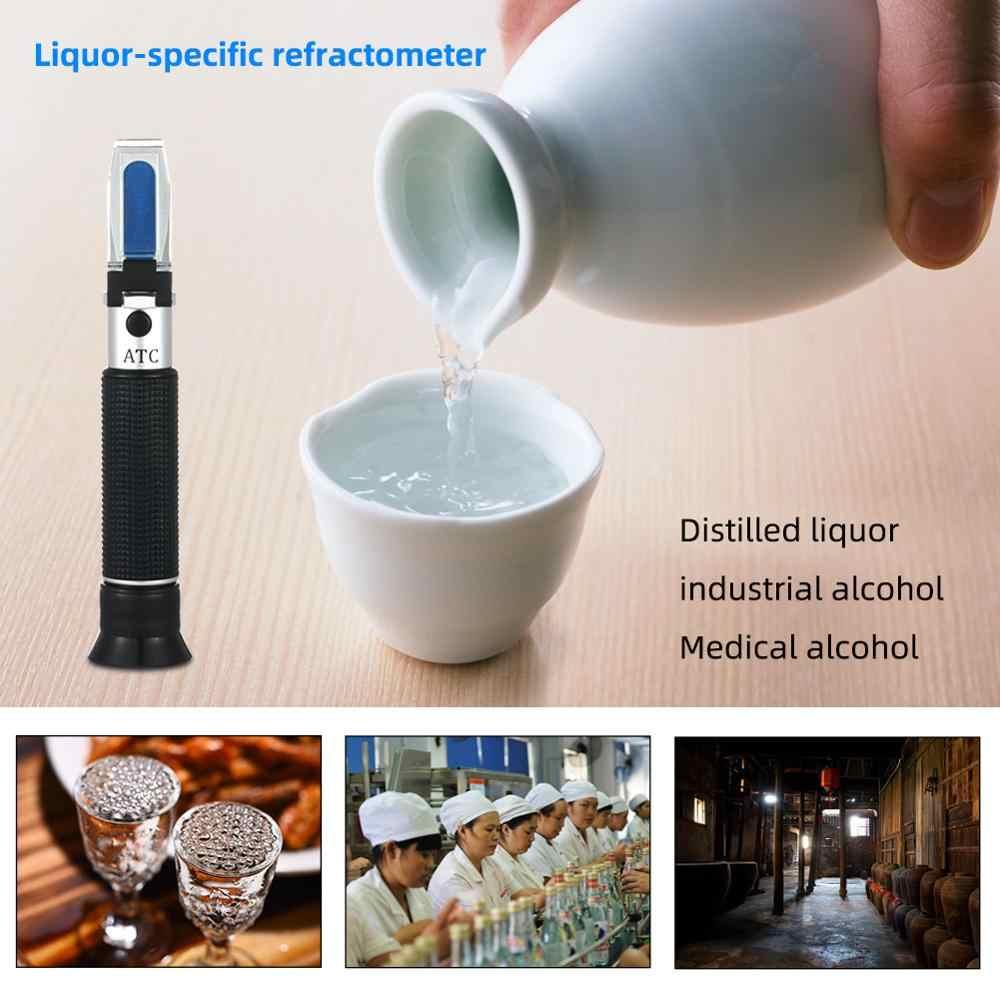 Yieryi alkoholu detektor stężenie alkoholu alkometr refraktometr refraktometr 0-80% v/v alkoholometr Oenometer