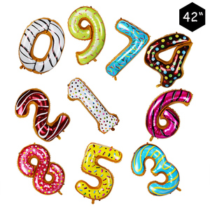 Image 3 - Donut Party Donut Wall Wedding Decoration Disposable Tableware Set Ice Cream Party Balloons Kids 1st Birthday Party Decorations