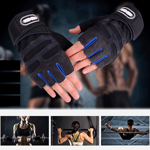 Zacro Gym Gloves Fitness Weight Lifting Gloves Body Building Training Sports Exercise Sport Workout Glove for