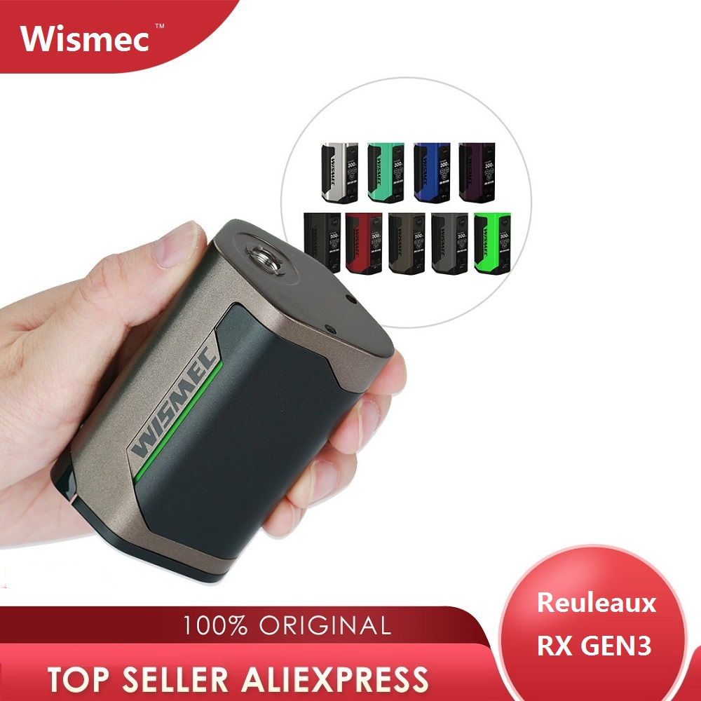 Original 300W WISMEC Reuleaux RX GEN3 TC boîte MOD Max 300W No18650 batterie boîte Mod énorme puissance e-cig Vape Mod Vs glisser 2/luxe mod