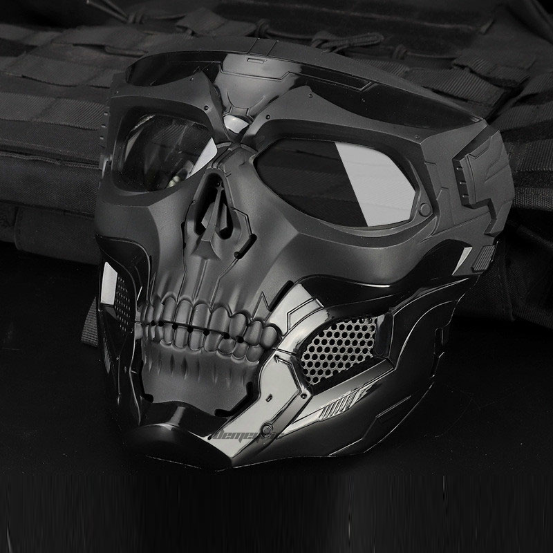 Airsoft Paintball Mask Military Tactical Skull Mask Protective Full Face Hunting Cs Wargame Masks Military Shooting Skull Masks