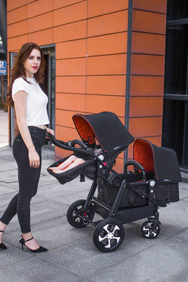 Hot Twin Stroller Double Light Folding Cart Reclining Seats Two Baby Strollers Pram Strollers For Kids