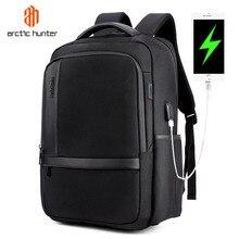 ARCTIC HUNTER su geçirmez erkek dizüstü sırt çantası USB şarj okul sırt çantası büyük kapasiteli Mochila rahat erkek seyahat çantası
