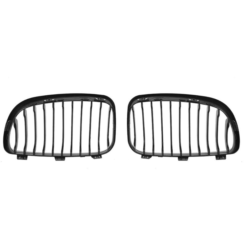 Matte Black Kidney Grill Grilles ABS Practical Durability and Simplicity for <font><b>BMW</b></font> 1 Series E87 E81 <font><b>E82</b></font> E88 130i <font><b>135i</b></font> M1 image