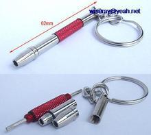 DHL/EMS 200pc mini metalen 4 Gebruik + Woord Mouw schroevendraaier voor mobiele telefoon bril repair A7