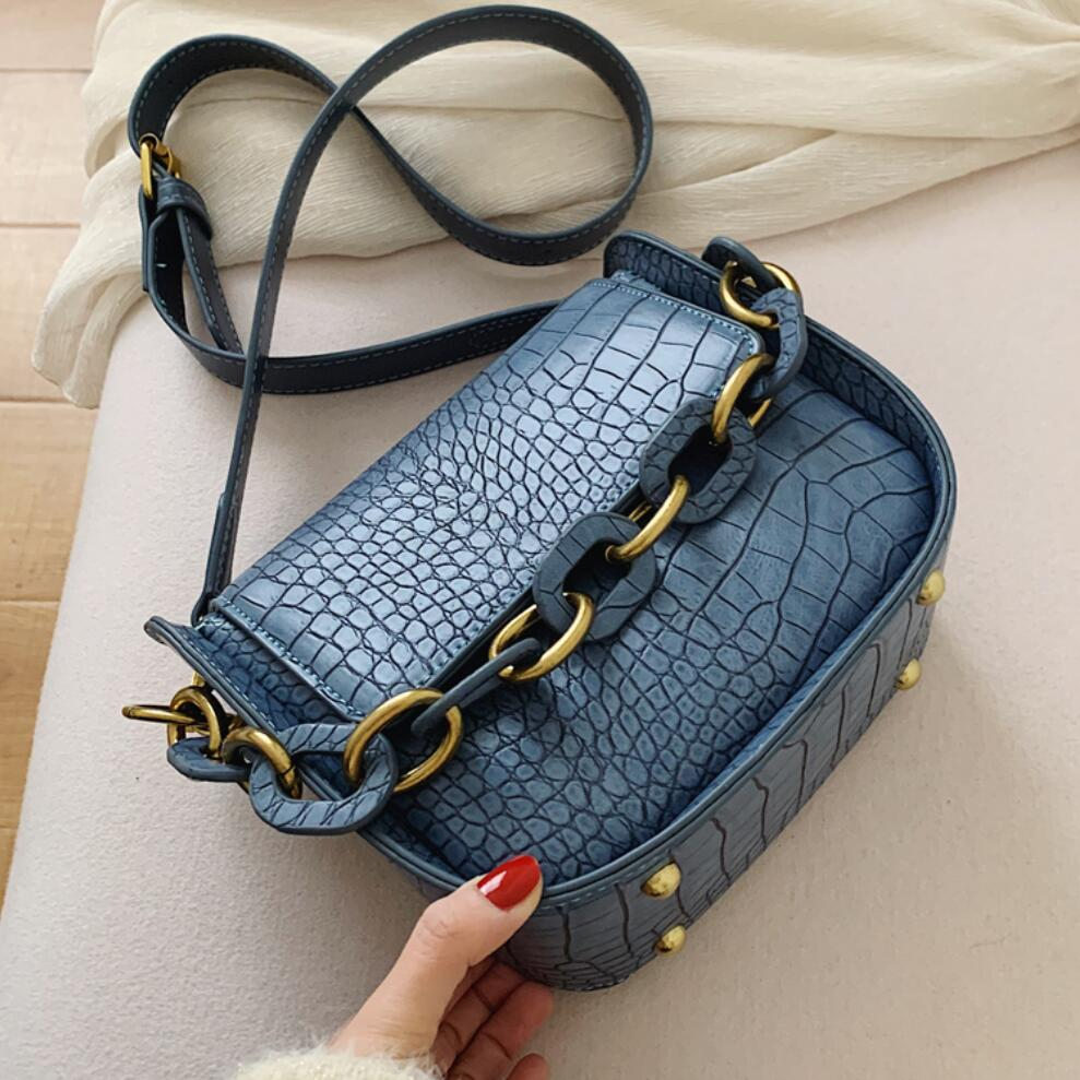 Stone Pattern Square Crossbody Bag 2020 Fashion New Quality PU Leather Women's Designer Handbag Portable Shoulder Messenger Bags